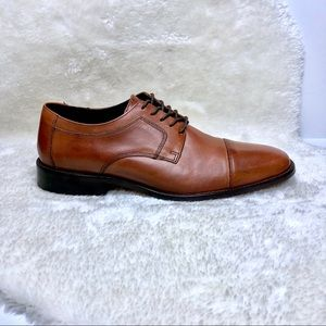 J Murphy | Novick Brown Cap Toe Lace Up Shoes